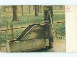 Pre-1907 OLD PUMP AT HARVARD UNIVERSITY Cambridge Massachusetts MA n6339