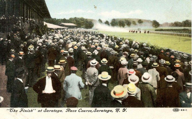 NY - Saratoga. Race Course, The Finish