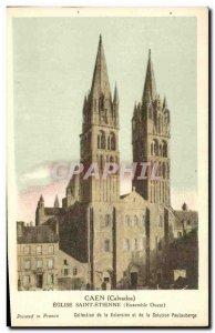 Postcard Caen Old Church of Saint Etienne