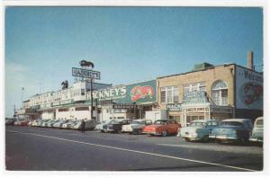 Hackneys Seafood Restaurant Cars 1950s Atlantic City New Jersey postcard