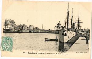 CPA CHERBOURG - Bassin du Commerce et Pont tournant (245935)