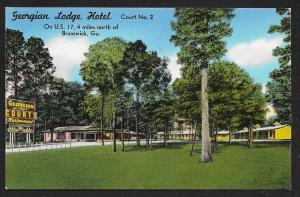 Georgian Lodge Hotel Brunswick Georgia Unused c1950s