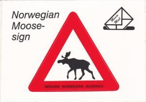 Sticker PC, Norwegian Moose Sign, Elgskilt, 1950-60´s