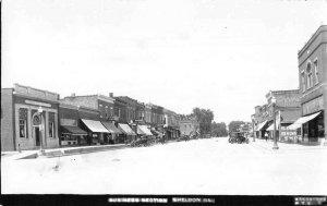 Sheldon Illinois Business Street Real Photo Vintage Postcard JI658568