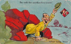 LEAP YEAR, PU-1910; I'm safe for another four years!, After Leap Year