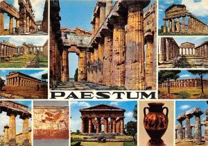 Italy Paestum multiviews Forum Temple Ruins