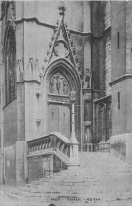Belgium Huy Portail Eglise Portal Church Postcard
