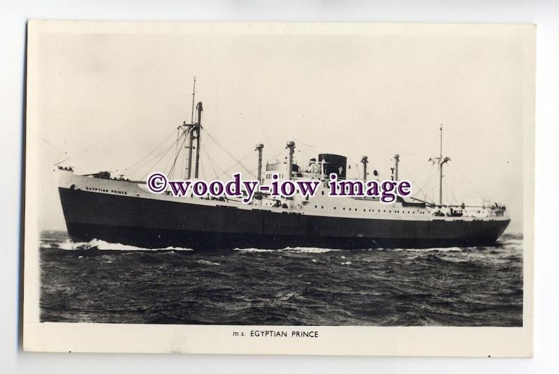 cb0429 - Prince Line Cargo Ship - Egyptian Prince , built 1951 - postcard