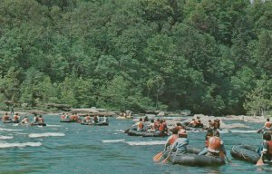 UNIONTOWN, Pennsyvania, 1940-60s; White Water boating below the Ohiopyle Falls