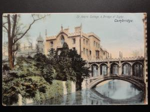 Cambridge: St. John's College & Bridge of Sighs c1904 by The Wrench Series 11330