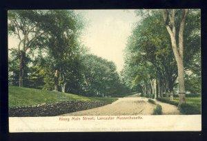 Lancaster, Massachusetts/MA Postcard, Along Main Street