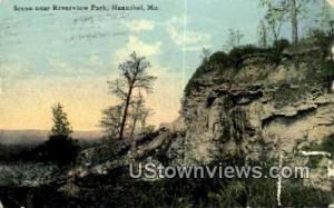 Riverview Park Hannibal MO Postal Used Unknown