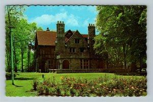 Windsor Ontario- Canada, Willistead Library and Art Gallery, Chrome Postcard