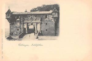 Tubingen Germany Castle Gates Antique Postcard J42073