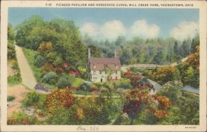 pioneer Pavilion horseshoe Curve mill Creek Park Youngstown Ohio linen