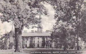 Ohio Gambier Old Kenyon Dormitory Kenyon College Artvue