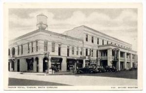 Ingram Hotel, Cheraw, South Carolina, PU-1937 Bayard WOOTTEN postcard