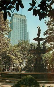 Memphis Tennessee~Court Square~Sterick Bldg~c1964 Postcard