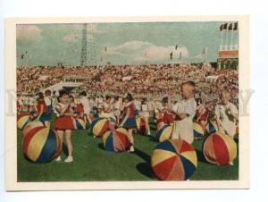 132693 USSR 1955 All-Union Sports parade athletes in Moscow