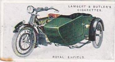 Lambert &amp  Butler Vintage Cigarette Card Motorcycles 1923 No 43 Royal Enfield