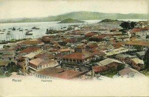 china, MACAO MACAU 澳門, Panorama (1910s) Postcard