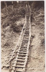 RP, Rustic Ladder, Miners Falls, Munisine, Michigan, 1920-1940s