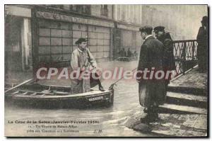 Old Postcard The Crue De La Seine January February 1910 A Vicar De Maison Alf...