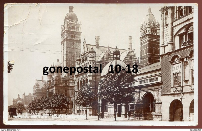dc1759 - ENGLAND South Kensington 1908 London. Imperial Institute. Real Photo PC