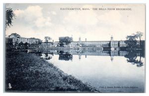 Early 1900s The Mills from Brookside, Easthampton, MA Postcard