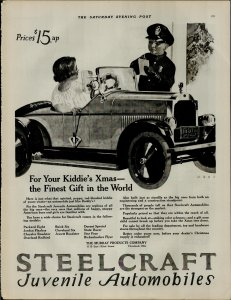 1924 Steel Craft Juvenile Automobiles $15.00 Up Vintage Print Ad 3942