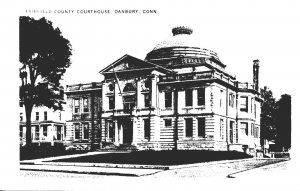Connecticut Danbury Fairfield County Court House Real Photo