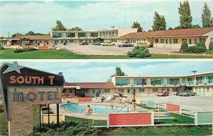 IA, Spencer, Iowa, South-T-Motel, Multi View, Dexter Press 66535-B