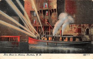 Fire Boat in Action Buffalo, New York USA Fire Boat 1908