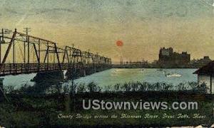 County Bridge, Missouri River Great Falls MT 1912