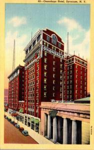 New York Syracuse The Onondaga Hotel Curteich