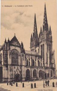 Quimper, La Cathedrale, cote Nord, Finistere, France, 00-10s