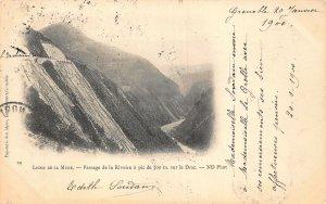 France Ligne de la Mure Passage de la Rivoire a pic de 300m sur le Drac Postcard