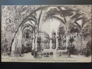 MONASTERE DE LERINS Interieur de Vieux Chateau St-Honorat, Old Postcard 170515