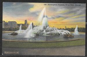 Illinois, Chicago, Buckingham Memorial Fountain, unused