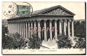 Old Postcard Paris The Madeleine Church