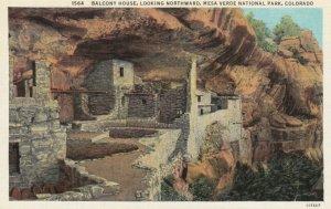 MESA VERDE NATIONAL PARK, Colorado, 1910-30s; Balcony House, looking Northward