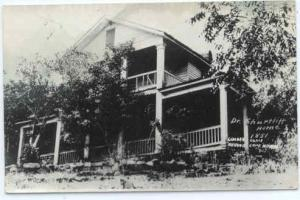 RPPC of Dr. Shurteff Home, Lumber Came Around Cape Horn, Shasta, California, CA,