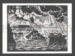 3089930 VOLGA River by KUSTODIEV old ART NOUVEAU Silhouette