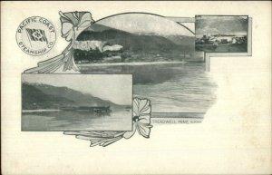 Pacific Coast Steamship Co Alaska AK c1900 Postcard TREADWELL MINE