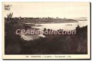 Old Postcard Carantec Greve general view