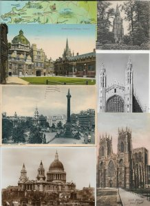 UK - London Folkstone and more Postcard Lot of 42 RPPC and Printed 01.05