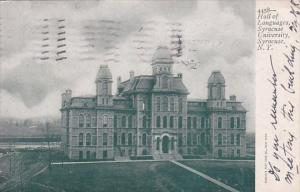 New York Syracuse Hall Of Languages Syraceuse University 1905