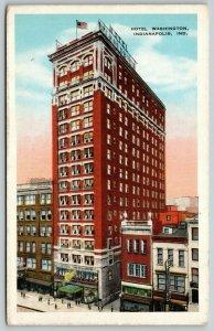 Indianapolis Indiana~Stopped at Hotel Washington~Furniture Store~1931 Postcard