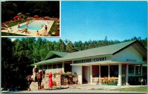 Gatlinburg, Tennessee Postcard BROOKSIDE COURT Motel GSMNP Roadside c1950s