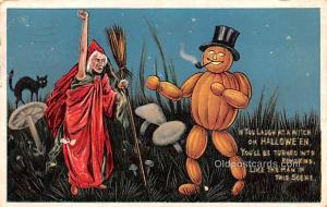 Halloween Post Card Old Vintage Antique 1910